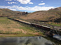 2014-06-21 15 47 09 Train crossing a railway bridge over the Humboldt River in Palisade, Nevada.JPG