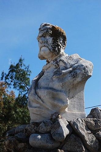 Aristotelis Valaoritis - Aristotelis Valaoritis' bust in his birthplace, Lefkada
