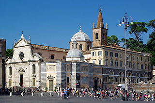 Santa Maria del Popolo Church in Rome, Italy