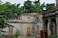 2014 giu Villa Pellegrini Marioni Pullè, Chievo, Verona, photo Paolo Villa facade, Doric - Tuscan order, drops, wings, porch, pilaster strip, circular tympanum, door, window, corbel, balcony FOTO6316BIS.JPG