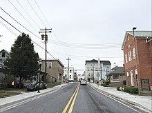 View North Along Us 15 Bus In Emmitsburg