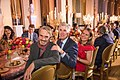 2017-Jeremy Irons, Neil Gorsuch, Louise Gorsuch, at Blenheim Palace during the Academy's 52nd annual International Achievement Summit held in London and Oxfordshire, England.jpg
