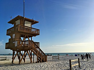 Anna Maria Island - Image: 2017 Sarasota Coquina Beach Lifeguard Station FRD 9087