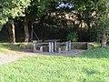 2018-10-04 (103) Benches at ASFINAG-Parkplatz Dornbach, Austria.jpg