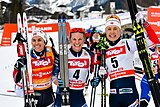 20180128 FIS NC WC Seefeld Weng Diggins and Haga cheering 850 3397.jpg