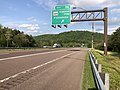 2019-05-17 18 14 35 View east along Interstate 68 and U.S. Route 40 (National Freeway) at Exit 56 (Maryland State Route 144-National Pike, Flintstone) in Flintstone, Allegany County, Maryland.jpg
