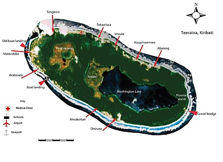 22 Map of Teeraina, Kiribati