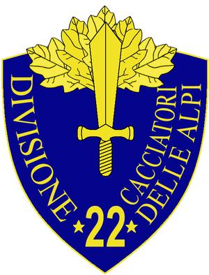 22nd Infantry Division Cacciatori delle Alpi - 22nd Infantry Division Cacciatori delle Alpi Insignia