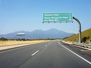 California State Route 241 - State Route 241 northbound in Rancho Santa Margarita.