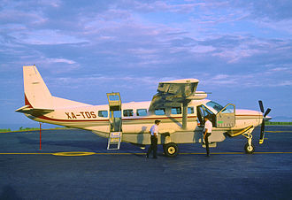 Aerotucán - A Cessna 208 of Aerotucán at Puerto Escondido International Airport (July 2003)
