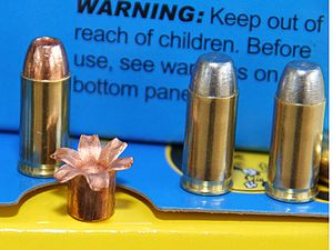 .32 ACP - Modern versions of the .32 ACP include expanding bullets and sometimes heavier projectiles. The lead-free hollowpoint expands reliably in a variety of media