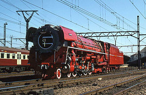 South African Class 26 4-8-4 - The Red Devil at Pretoria, 25 April 1981