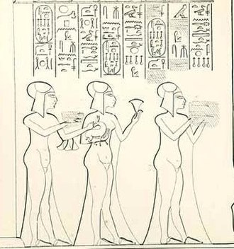 Neferneferuaten Tasherit -  From left to right: Setepenre, Neferneferure, and Neferneferuaten Tasherit at the Durbar in year 12.