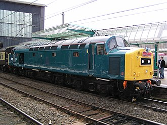 British Rail Class 40 - Image: 40145 at Carlisle
