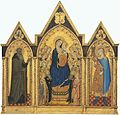 4 Puccio di Simone and Allegretto Nuzi. Madonna and Child with Saints. 1354. Washington NGA..jpg