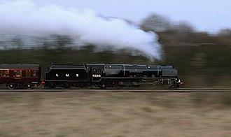 LMS Princess Coronation Class 6233 Duchess of Sutherland - Image: 6233 Duchess of Sutherland Coney Green Derbyshire