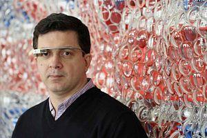 David Datuna - David Datuna in Google Glass