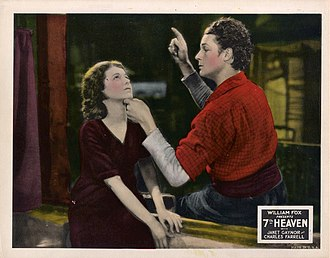 7th Heaven (1927 film) - Lobby card with Janet Gaynor and Charles Farrell