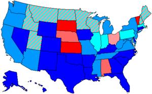 United States House of Representatives elections, 1964 - Image: 89 us house membership