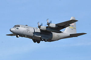 94th Operations Group - Lockheed C-130H-LM Hercules 81-0631 of the 700th Airlift Squadron prepares for approach and landing at Dobbins.