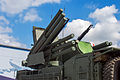 96K6 Pantsir-S1 wheeled at Engineering Technologies 2012 Turret.jpg