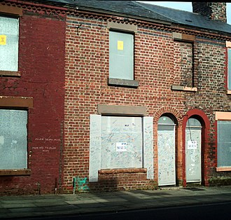 Welsh Streets, Liverpool - Birth home of Ringo Starr, pictured in March 2012 in a derelict condition