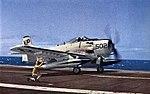 A-1J Skyraider of VA-215 aboard USS Hancock (CVA-19), in 1963.jpg