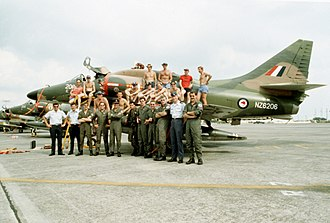 No. 75 Squadron RNZAF - Image: A 4K with 75 Sqn RNZAF members 1982