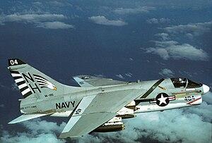 VFA-195 (U.S. Navy) - VA-195 A-7E over North Vietnam in 1970