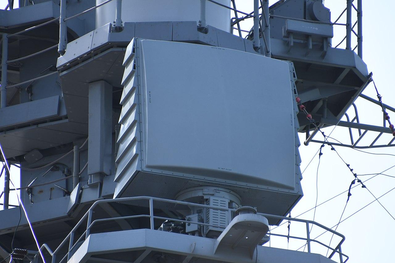 ファイル:AN SPQ-9B radar on board mast of JS Atago(DDG-177) right front view at JMSDF Maizuru Naval Base April 13, 2019 02.jpg - Wikipedia