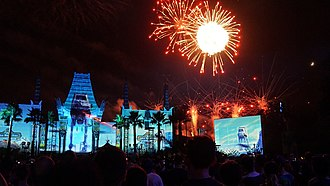Star Wars: A Galactic Spectacular - Image: AT AT battle sequence of Star Wars, A Galactic Spectacular