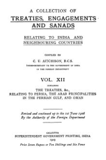 A Collection of Treaties, Engagements and Sanads relating to India and Neighbouring Countries Vol 12.djvu