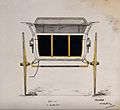 A Lowther cart; back view. Coloured pen and ink drawing. Wellcome V0040986.jpg