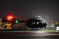 A U.S. Army UH-7 Lakota helicopter assigned to the Puerto Rico Army National Guard prepares to conduct night flight training at the aviation support facility in Isla Grande, Puerto Rico, Sept 140902-Z-KD550-830.jpg
