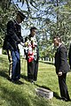 A ceremony honoring Hmong and Lao combat veterans at the memorial tree and plaque in Arlington National Cemetery (17068944794).jpg