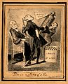 A doctor trying to sell youthfulness potions to an elderly l Wellcome V0010952.jpg