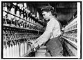 A doffer boy in Globe Cotton Mills, Augusta, Ga., Jan. 15-1909 LCCN2016844679.jpg