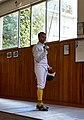 A fencing salute by the Epee fencer Panayiotis Lamprou at Athenaikos Fencing Club.jpg