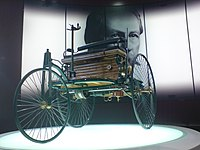 The Benz Patent Motorwagen was built in 1885 but unveiled on July 3 1886.
