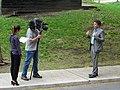 A reporter, producer and cameraman, on Scadding Avenue, 2015 05 12 (3).JPG - panoramio.jpg