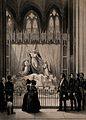 A royal visit to the monument to Princess Charlotte in the c Wellcome V0042420.jpg