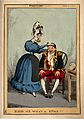 A smartly dressed woman examining the head of a military man Wellcome V0011111.jpg