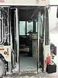 Abandoned CTA bus doors open on lake shore drive feb 2 2011 chicago.JPG