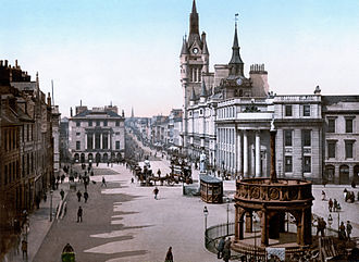 Aberdeen - The Castlegate and Union Street (c.1900)