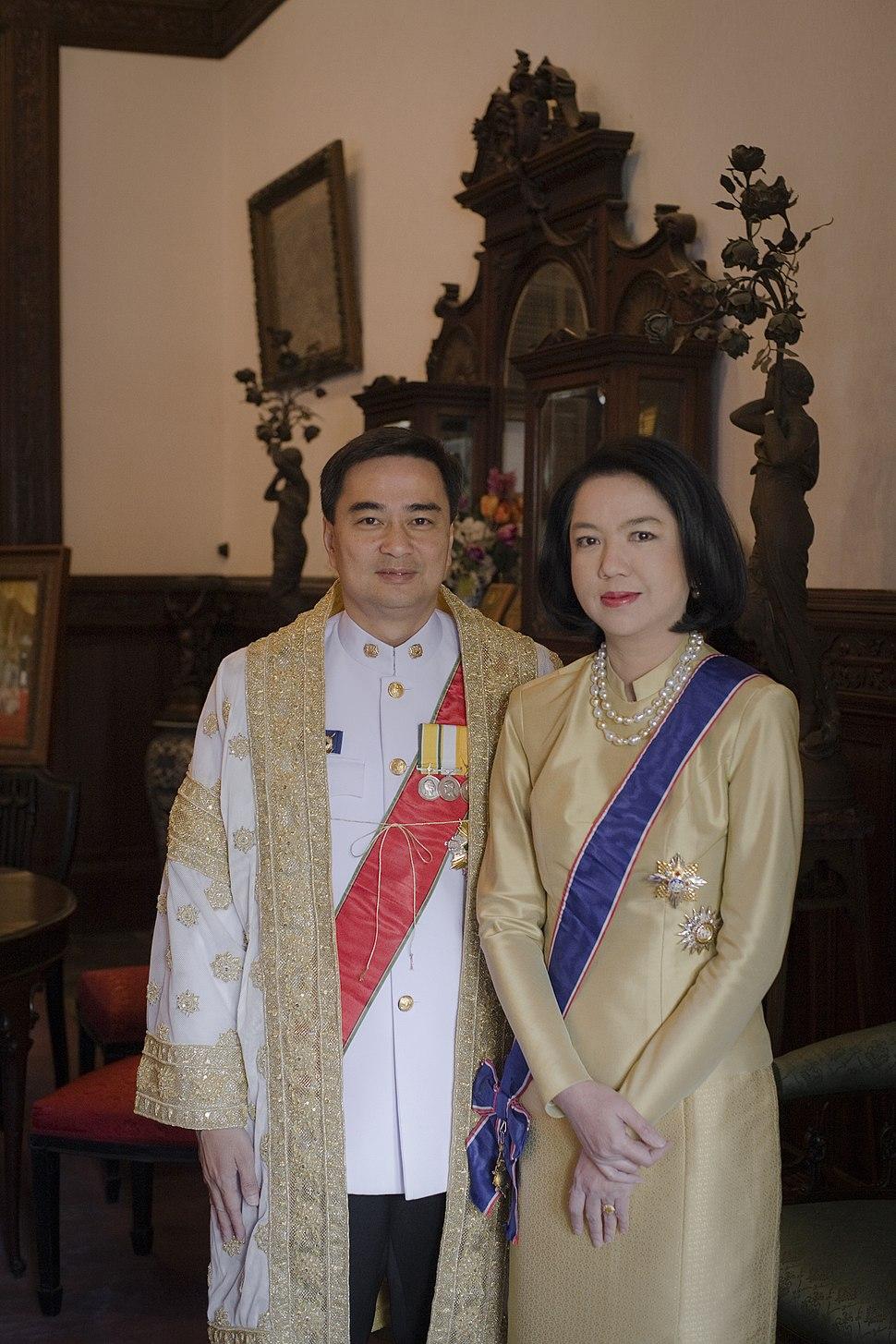 Abhisit Vejjajiva and Pimpen Sakuntabhai