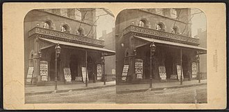 Deloss Barnum - Image: Academy Of Music Brooklyn by Deloss Barnum NYPL