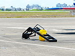 Access Ladder for F-16 with Yellow Bucket on Apron 20130810.jpg