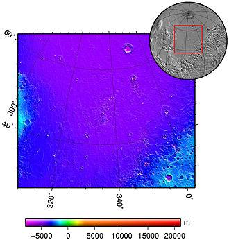 Acidalia Planitia - Topography