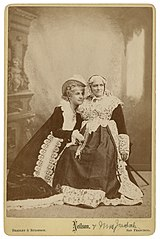 Adelaide Neilson as Juliet, Mrs. Judah as the Nurse in Shakespeare's Romeo and Juliet.jpg