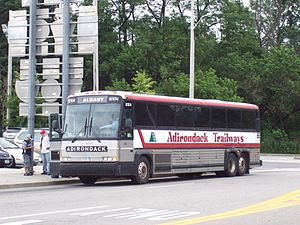 Trailways of New York - Adirondack Trailways bus in Nanuet, New York